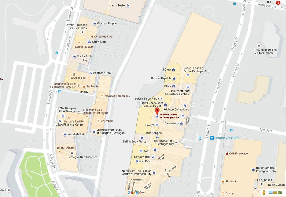 Pentagon City Mall Store Map