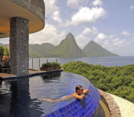 Jade Mountain resort on St. Lucia