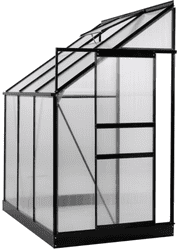 4 Ft. W x 6 Ft. D Lean-To Greenhouse