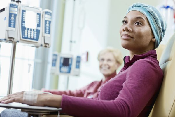 women getting chemotherapy treatments