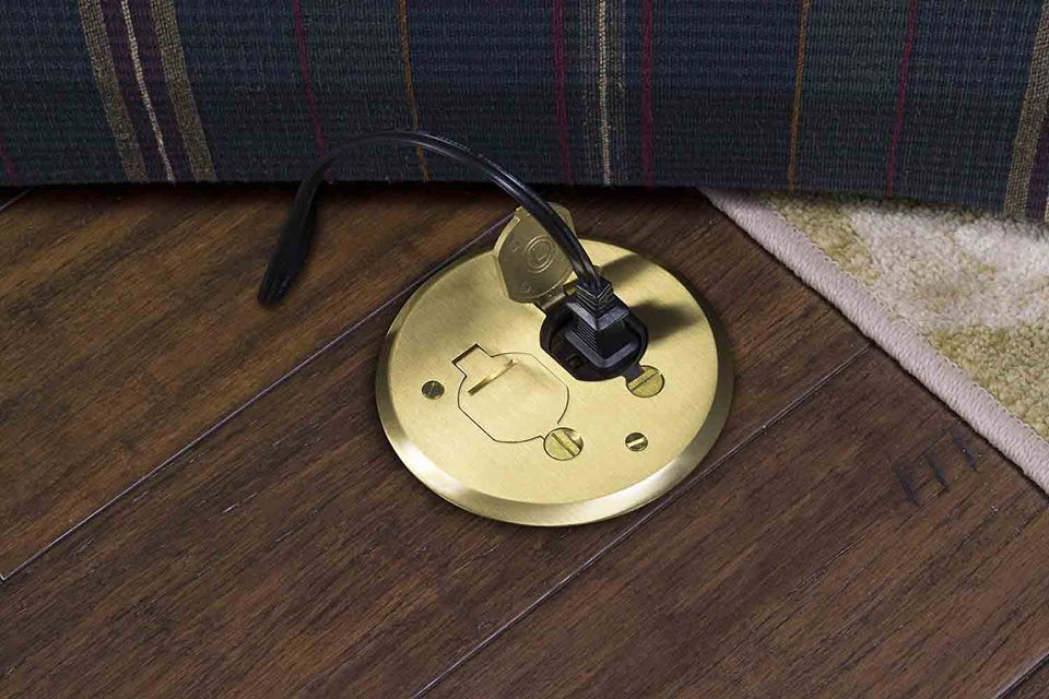 How To Install A Poke Through Electrical Floor Outlet