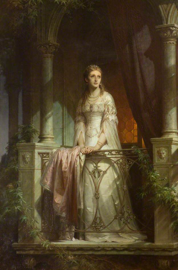 painting of Juliet Capulet on the balcony
