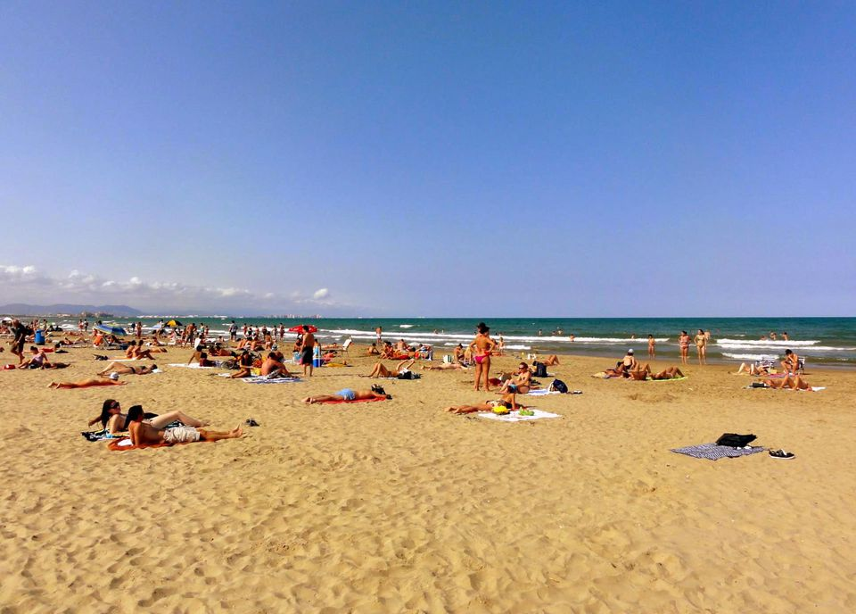 Valencia Beach in Spain