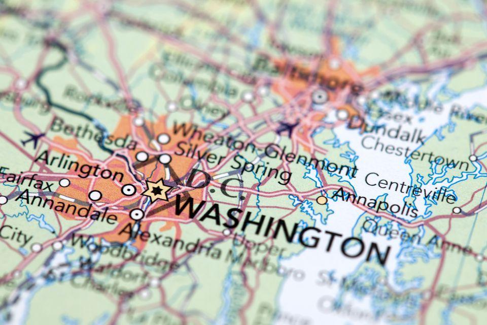 Washington DC Zip Codes By Neighborhood - Map of the us but circle of paradise washington