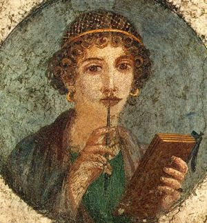 So-called Sappho Fresco From Pompeii, c. 50 A.D.