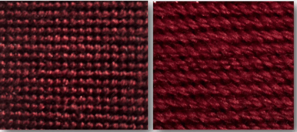 continental stitch front and back