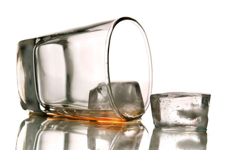 Spilled Shot Glass