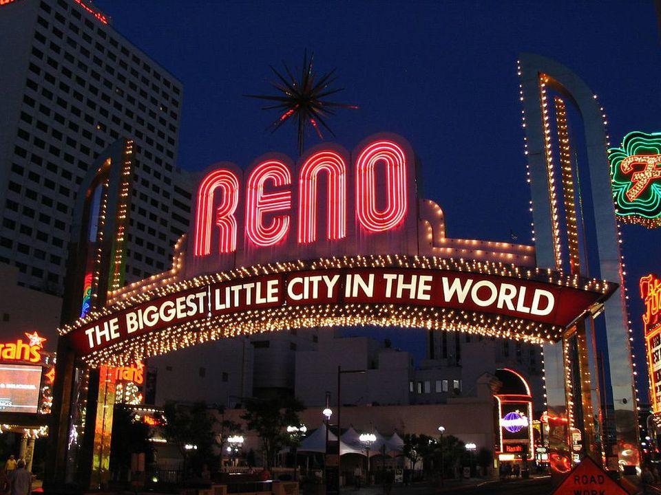 The Reno Arch in Reno, Nevada.