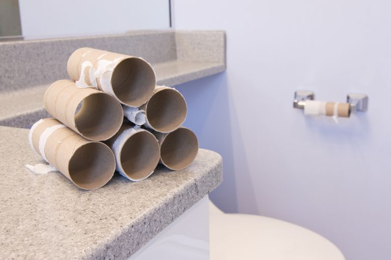 empty toilet paper rolls when your bowel prep is complete