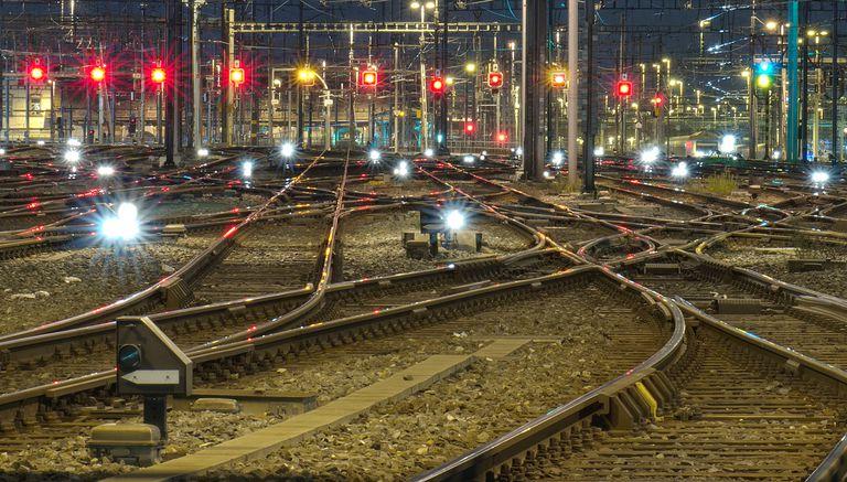 Bunch of railroad tracks