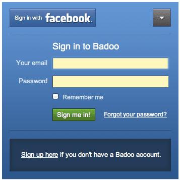 Badoo Login getting started on the badoo site