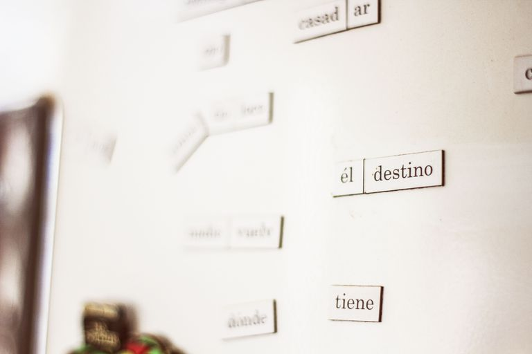 Nameplates With Spanish Words On Wall
