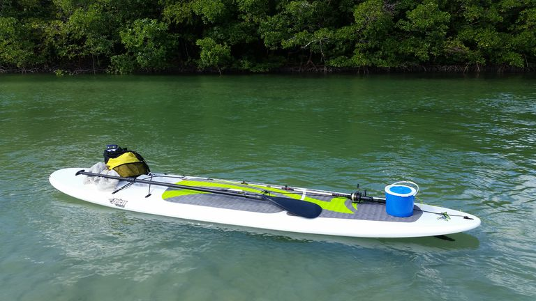 Pelican Rush 11.6 Paddleboard Floating