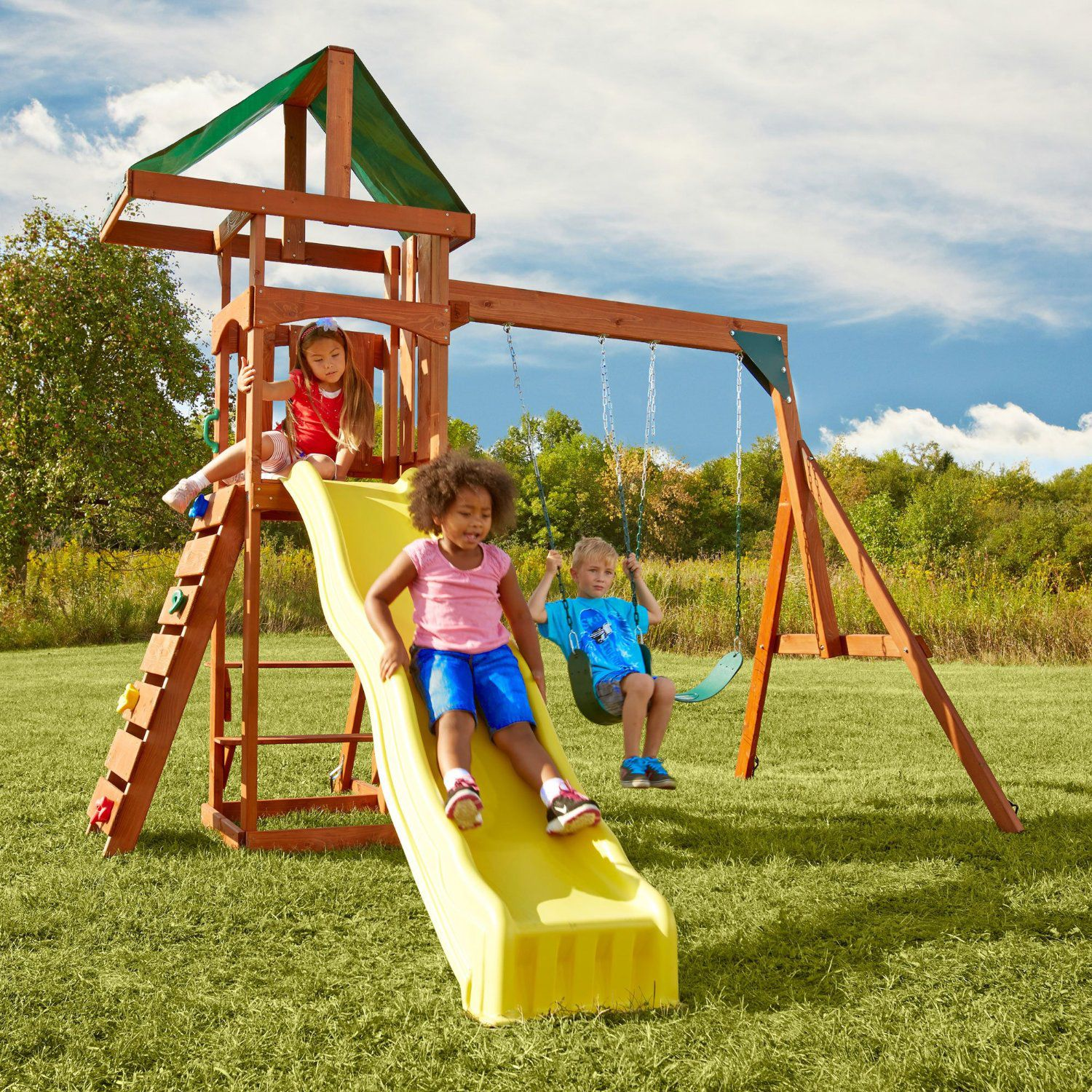 the 10 best wooden swing sets and playsets of 2017
