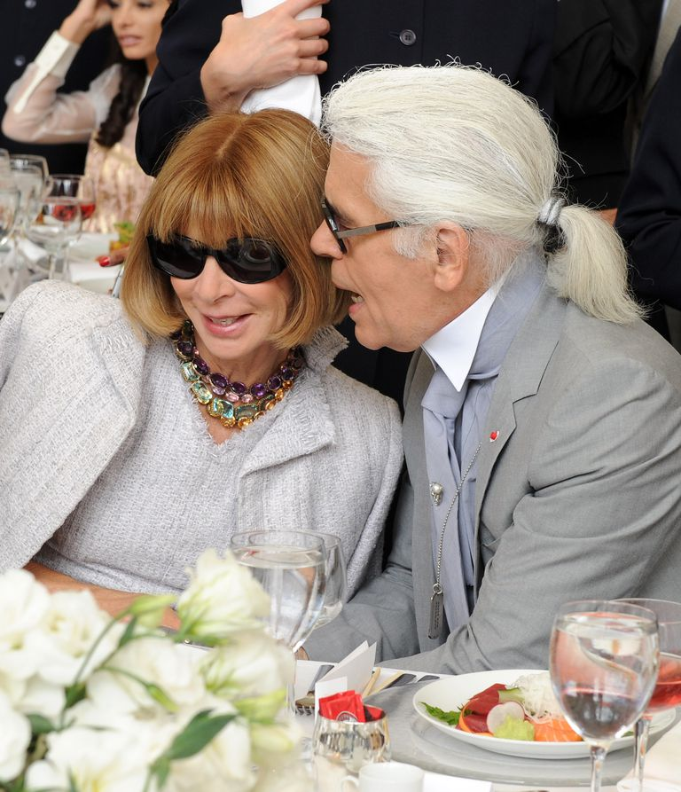 Anna Wintour and Karl Lagerfeld.