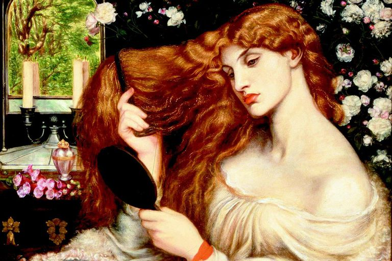 Lady Lilith by Dante Gabriel Rossetti, 1866-68 (altered 1872-73).