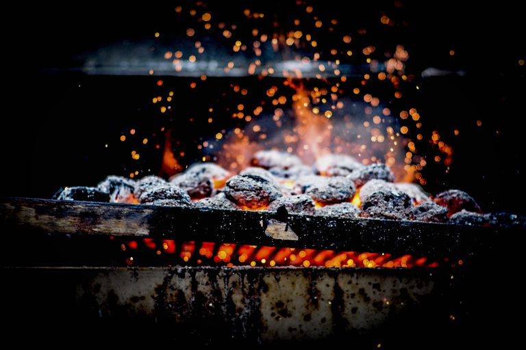 You can use a charcoal grill to make homemade glass.