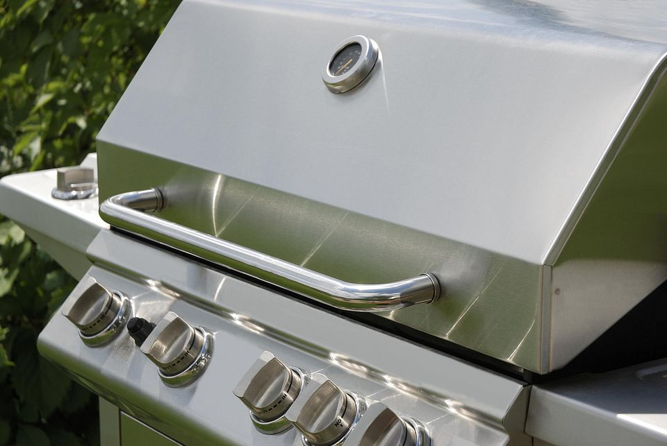 Stainless Steel Grill close up