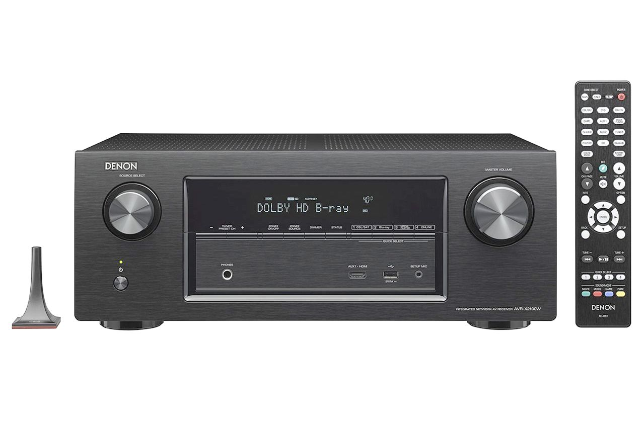 the denon avr x2100w home theater receiver reviewed. Black Bedroom Furniture Sets. Home Design Ideas