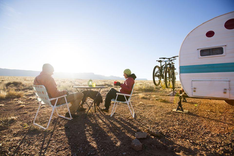 RV site in desert