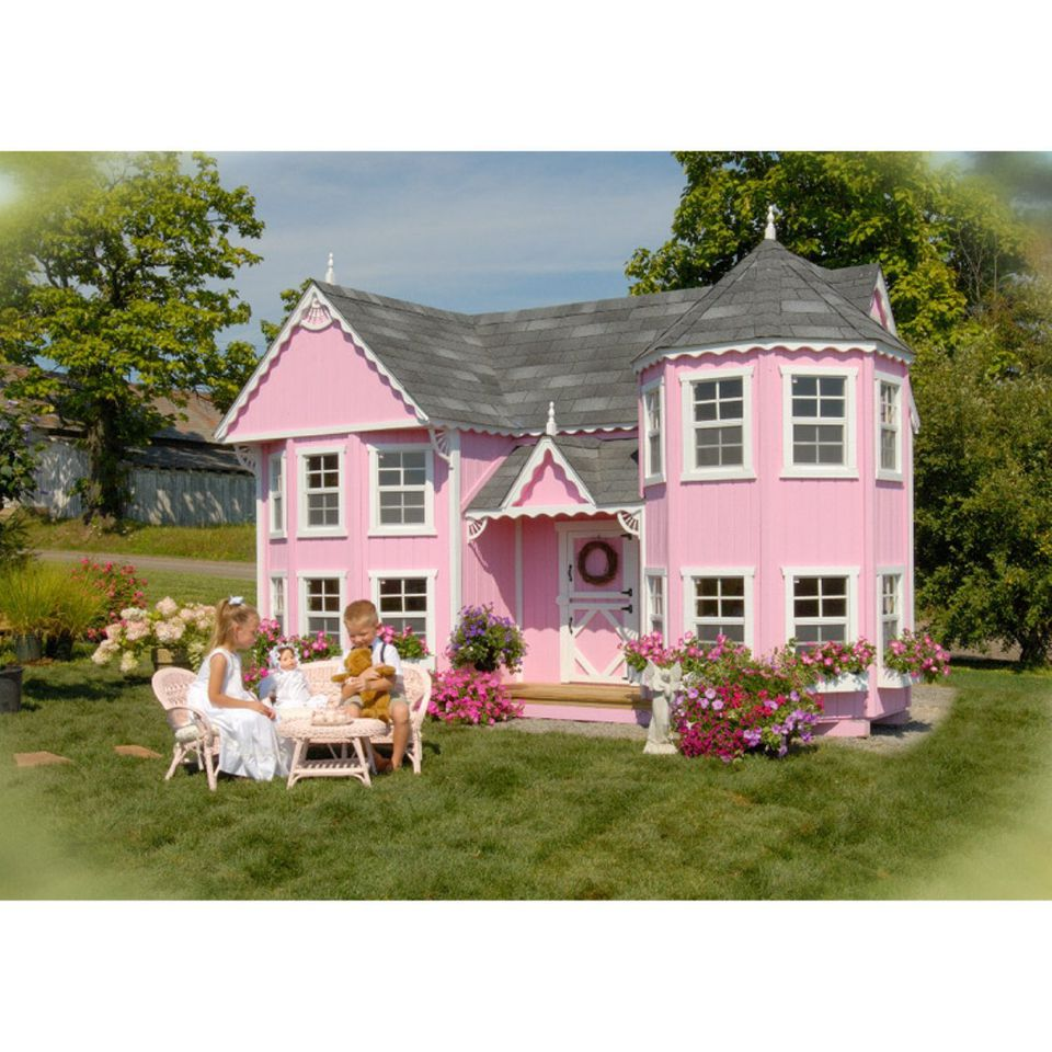 Playhouse kits to buy and build on your own for Victorian style kit homes