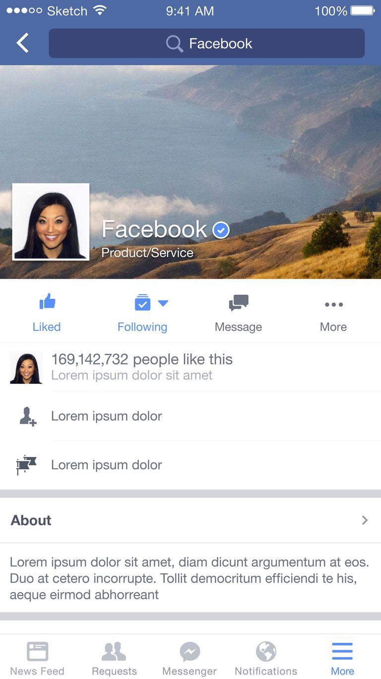 Página verificada de Facebook