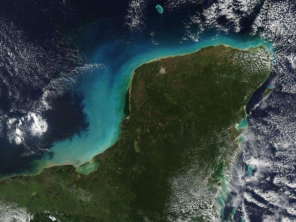 Yucatan Peninsula Satellite Image