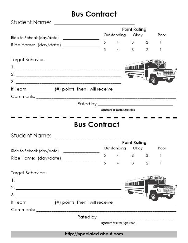 Behavior Contracts And Management Documents