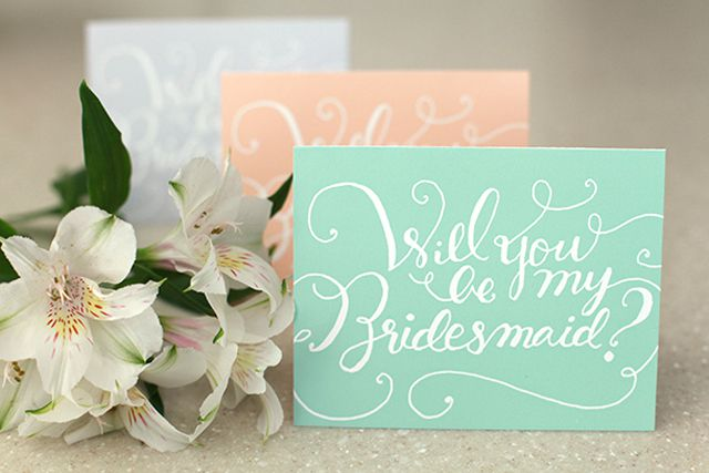 19 free printable will you be my bridesmaid cards green coral and white will you be my bridesmaid cards on a table pronofoot35fo Image collections