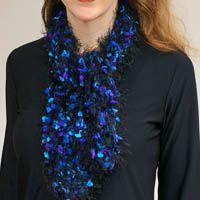 Women's Scarf Crocheted Using Lion Brand Fancy Fur Eyelash Yarn