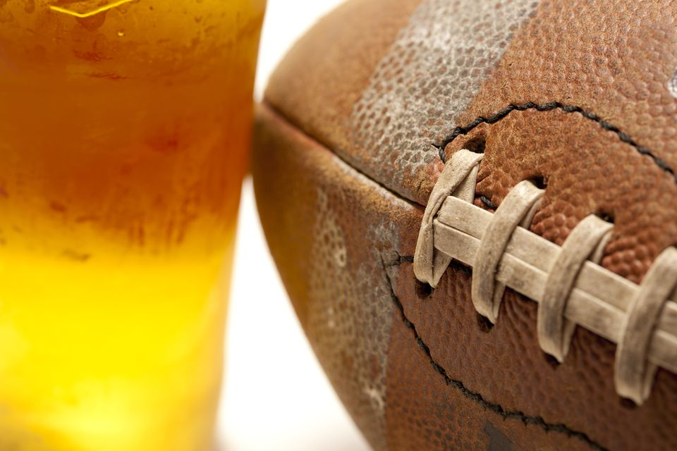 Football and Mixed Drinks, Perfect for a Super Bowl Party