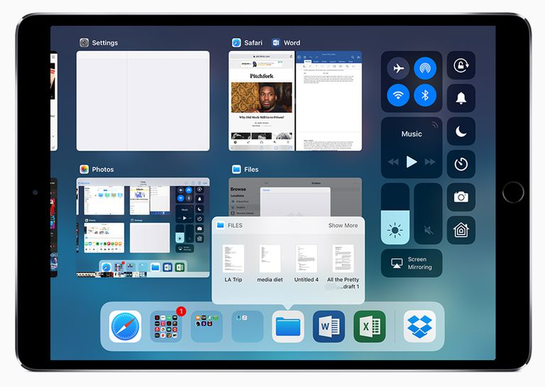iPad dock in iOS 11