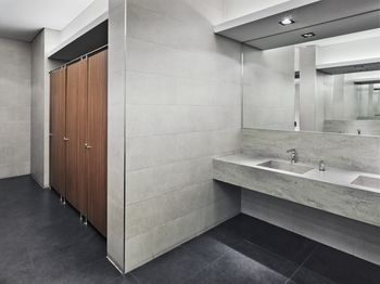 Bathroom Design Basics a look at the use of concrete floors in bathrooms