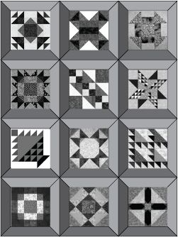 Quilt Layout Pattern With Mitered Frames
