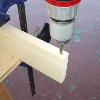 Drill Holes in the Two Side Boards