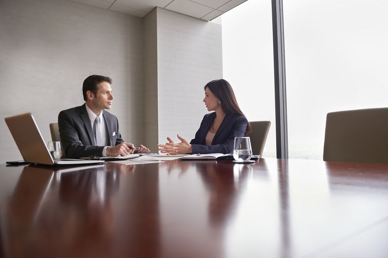 Meeting with a perspective employer