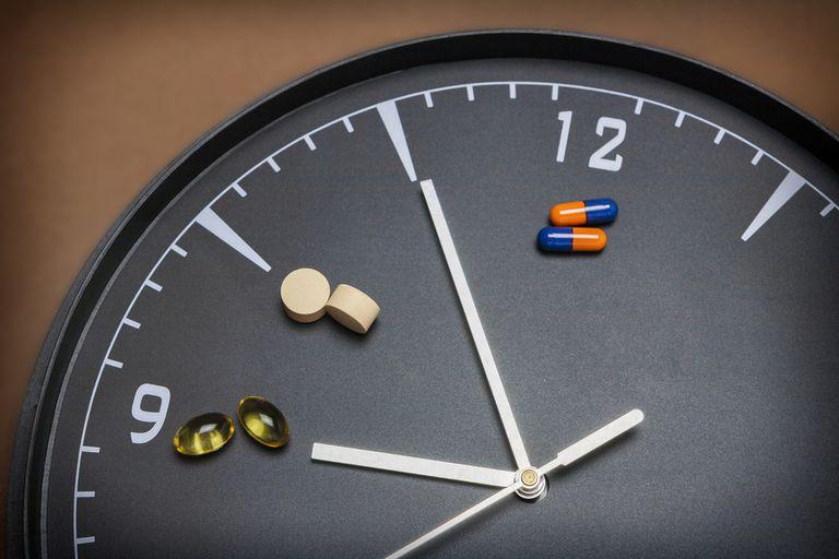medication and clock
