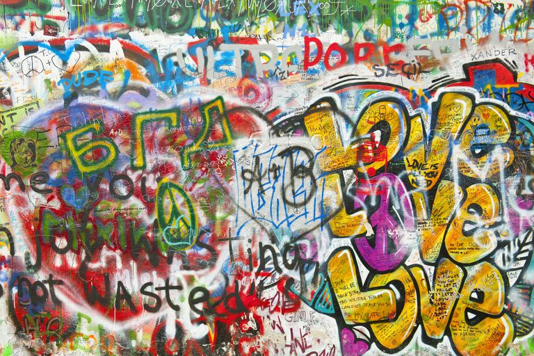 Graffiti on John Lennon Wall in Prague