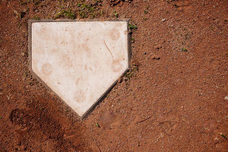 dirt next to baseball home base