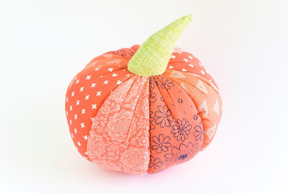Finished Soft Pumpkin Pillow