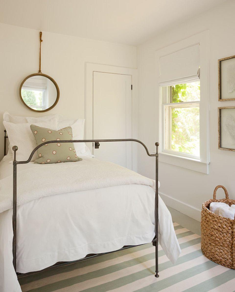 Peaceful farmhouse bedroom