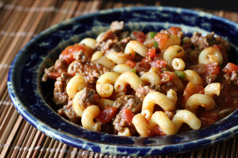 Спагетти с мясом и помидорами рецепт