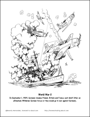 World war ii printable worksheets and coloring pages for World war ii coloring pages