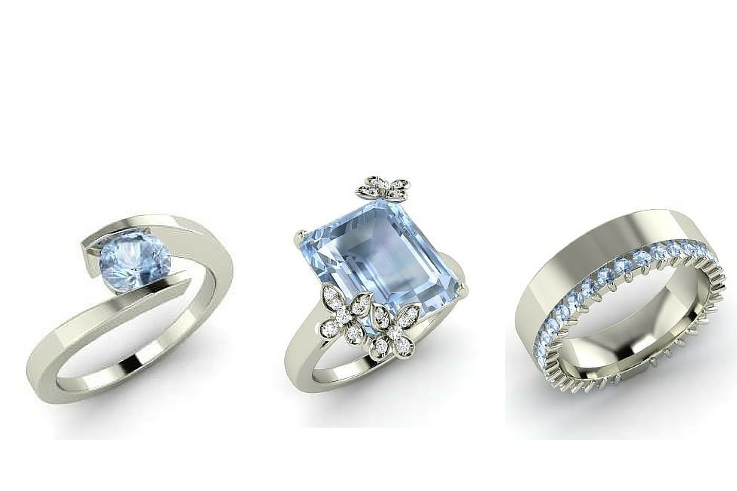 aquamarine wedding rings aquamarine engagement rings for every budget 1358