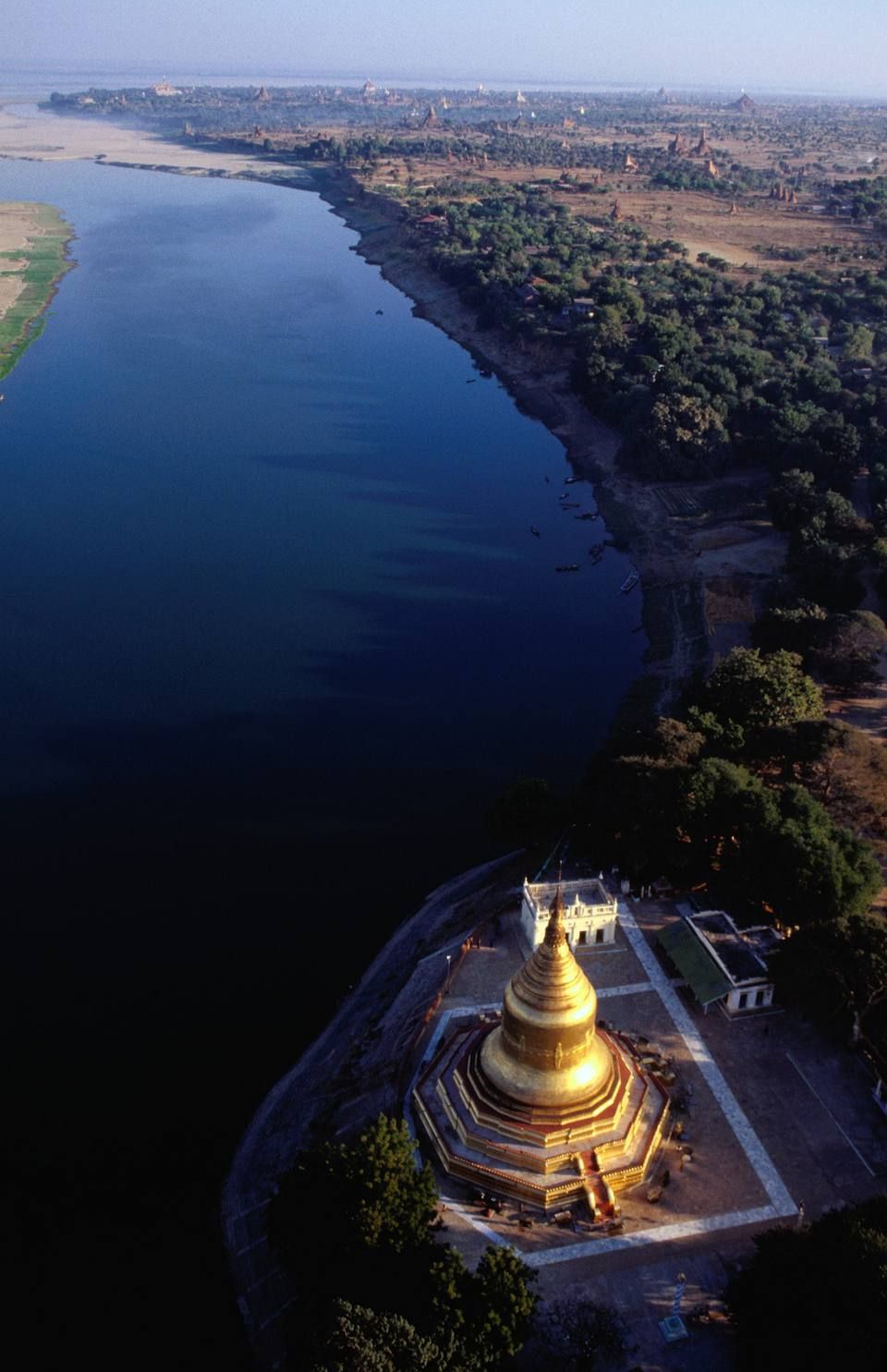 Bird's eye view of Lawkananda Stupa, Bagan, Myanmar