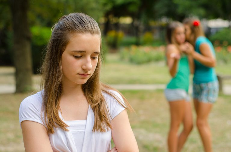 young girl being excluded