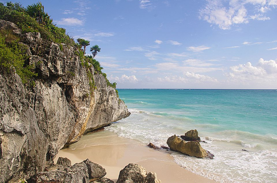 The best vacation spots in mexico for families beach at ruins in tulum sciox Image collections