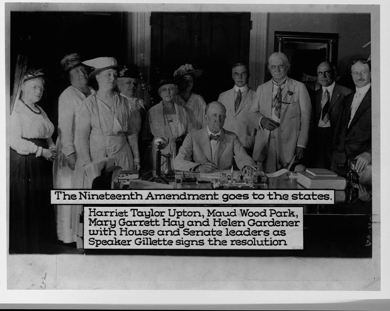 The Signing of the Nineteenth Amendment
