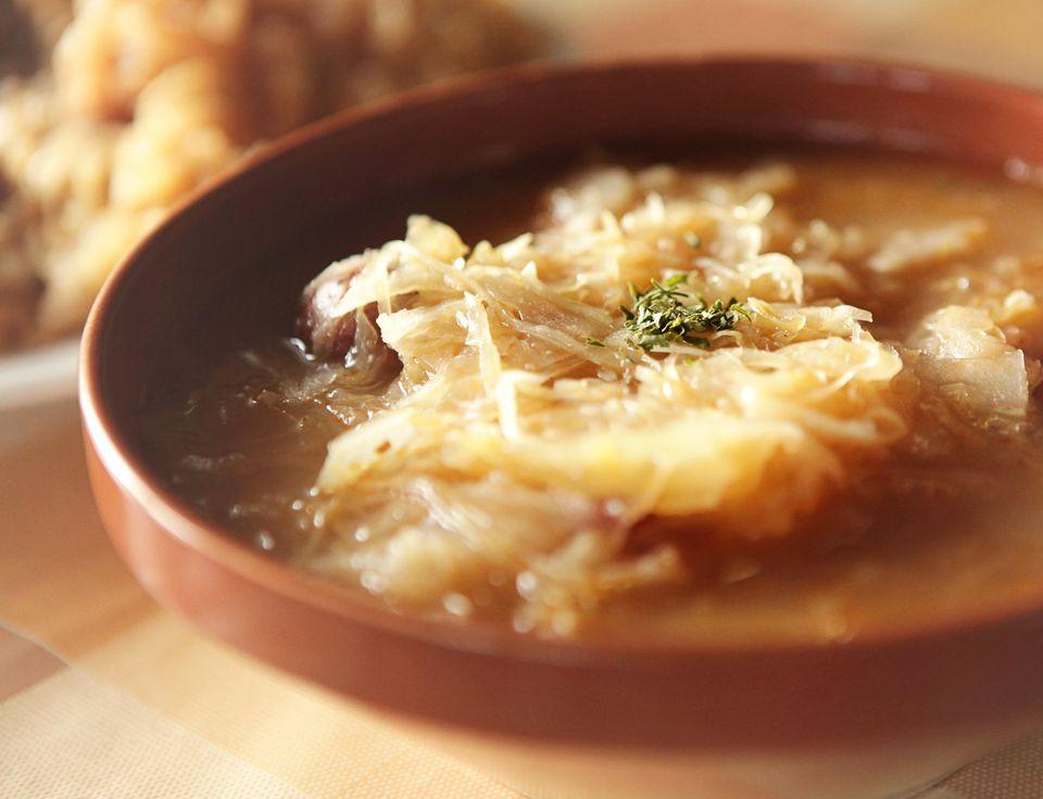 Lithuanian Sauerkraut Soup