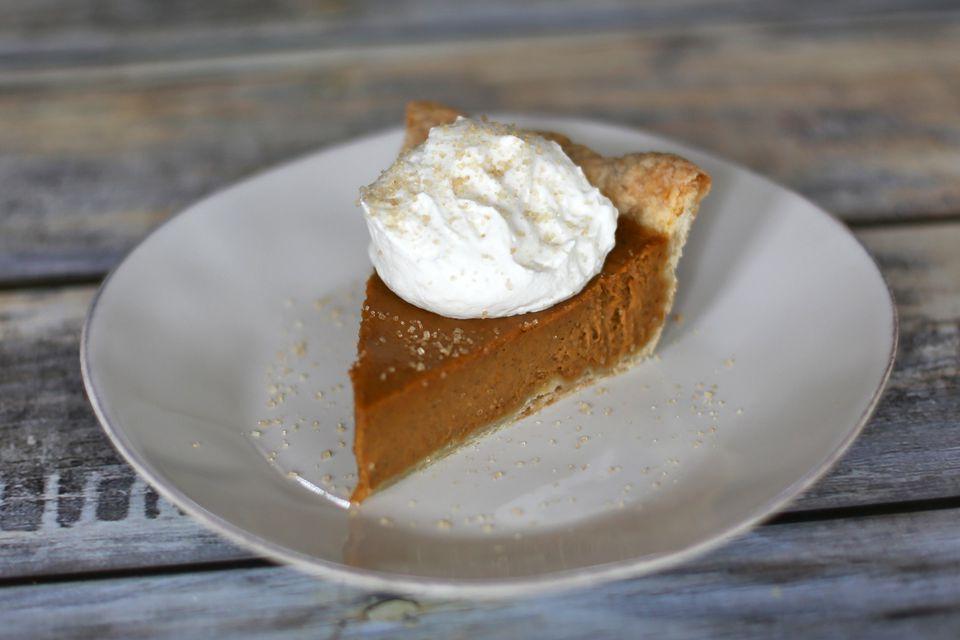 Homemade Bourbon Pumpkin Pie